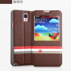 Husa S VIEW Samsung Galaxy Note 3 N9000 by Yoobao Originala Brown - Husa Telefon Yoobao, Plastic