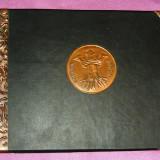 Album foto vechi - stema oras Brasov - 32x23 cm - 22 file - coperta piele -  2+1 gratis toate produsele la pret fix - RBK3584