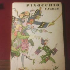 C. Collodi Pinocchio, carte in limba engleza, ilustrata de Val Munteanu - Carte de lux