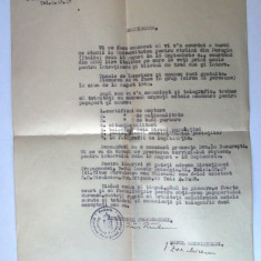 ROMANIA REGALISTA INSTIINTARE ACORDARE BURSA IN ITALIA MIN. PROPAGANDEI 1942 ** - Pasaport/Document, Romania 1900 - 1950
