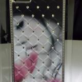 Husa. Capac spate protectie Iphone5. 3D cu pietre SWAROVSKI. Model Nou., iPhone 5/5S/SE, Apple