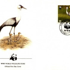 WWF FDC set complet / 4x FDC/ 1987 Malawi - pasare