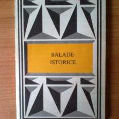 T BALADE ISTORICE - Mesterul Manole - prefata Valeriu Cristea - Roman, Anul publicarii: 1975