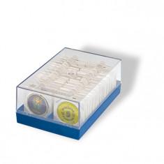 PVC cutie pentru monede avec cartonase / max. volum - 100 buc./