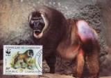 WWF MC set /4buc./ 1988 Kamerun - Drill monkey
