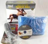 Everlast - minge pt fitness si aerobic - 75 cm - cu pompa si DVD cu exercitii -, Minge gimnastica