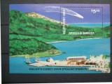 ANTIGUA & BARBUDA 1986 - COMETA HALLEY, colita nestampilata N82
