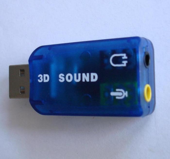 Placa de sunet pe USB 2.0, 3D Audio USB Sound Card Adapter Virtual 5.1 ch