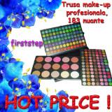 Trusa machiaj profesionala 183 culori - FRAULEIN - nuante colorate mate sidefate pigmentate, Paleta de farduri, Paleta make-up