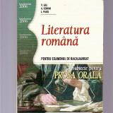 LITERATURA ROMANA - PENTRU EXAMENUL DE BACALAUREA  SUBIECTE PENTRU PROBA ORALA