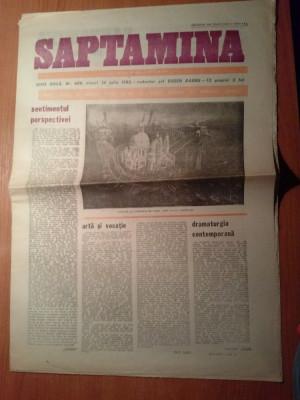 ziarul saptamana 30 iulie 1982 foto