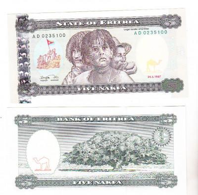 bnk bn Eritrea 5 nafka 1997  unc foto