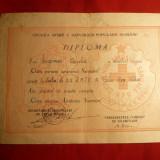 Diploma- Brevet pt.Insigna Gata pt.Apararea Sanitara - F.Rara !