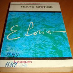 TEXTE CRITICE - Eugen Lovinescu - Studiu literar
