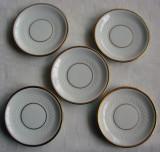 Cinci farfurioare din portelan crem foarte fin marca Thomas Rosenthal
