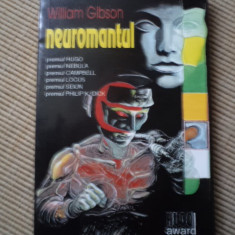 NEUROMANTUL WILLIAM GIBSON premiul hugo nebula locus carte hobby SF roman