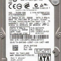 HARD LAPTOP 500 GB HITACHI - HDD laptop Hitachi, 500-999 GB, Rotatii: 5400, SATA2, 16 MB