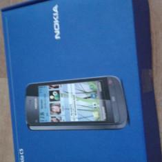 Nokia c5 - Telefon mobil Nokia C5, Negru, Neblocat