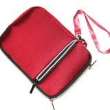 Husa tableta 7 inch, cu fermoar, tip borseta, visinie, 2 compartimente,