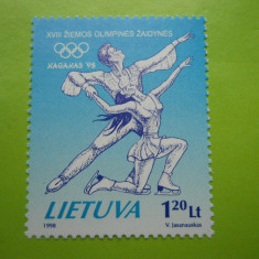 LITUANIA JO DE IARNA   NAGANO 1998   - 1 VAL   .-  MNH  302 A, Europa, Sport
