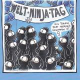 Caricatura tip Carte postala, Nemtesc : Luptatorii Ninja - Pictor strain