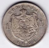 5)Moneda argint 1 leu 1894