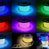 ROLA 100 METRI BANDA LED! SMD 5050, 6000 led. ULTIMA TEHNOLOGIE, DECOREAZA MINUNAT