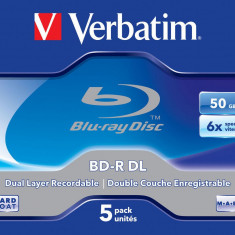 153.Verbatim Blu-ray Disc 50 GB Set - 5 bucati