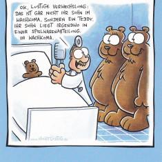 Caricatura tip Carte postala , Nemtesc : Familie de ursi