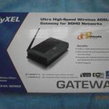 KIT Complet Router Wireless ADSL2+ ZyXEL P-660HW-T1-v3 - cu probleme de functionare al wireless-ului, Porturi LAN: 4, Porturi WAN: 1