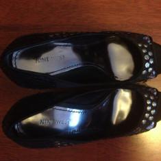 Pantofi de seara Nine West - Pantof dama Nine West, Culoare: Negru, Marime: 40, Negru, Cu toc
