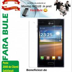 Folie de protectie LG Optimus L5 E610 screen Guard . MONTAJ iNCLUS in Pret !!!LICHIDARE DE STOC!!!