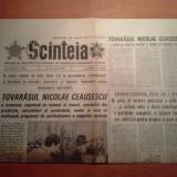 Ziarul scanteia 24 aprilie 1980-vizita lui ceausescu la intreprin. semanatoarea