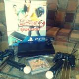 Ps3+Ps Motion Controllerx2+Consolex2+Eye Camera+2 jocuri - PlayStation 3 Sony