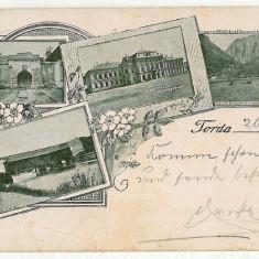 146 - L i t h o, Cluj, TURDA - old postcard - used - 1899 - Carte Postala Transilvania pana la 1904, Circulata, Printata