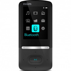 MP4 Capacitate: 8 GB Durata de functionare: Audio: 35 ore Video: 6 ore Ecran: 2.2 inch - Mp4 playere Philips, Negru