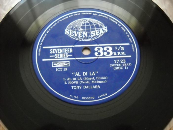 TONY DALLARA: AL DI LA (EP vinil cu 4 piese) disc mic vechi, MADE IN JAPAN