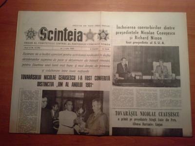 scanteia 1 iulie 1982-ceausescu i-a fost conferita distinctia om al anului 1981 foto