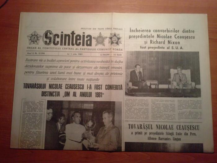 scanteia 1 iulie 1982-ceausescu i-a fost conferita distinctia om al anului 1981
