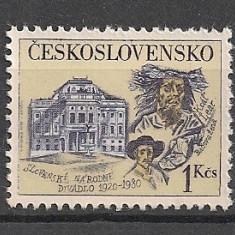Cehoslovacia.1980 60 ani Teatrul National Slovac Bratislava SC.803 - Timbre straine, Nestampilat