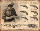Reclama metalica vintage SMITH & WESSON (2)