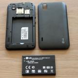 Vand / Schimb Lg optimus p970 black ! - Telefon mobil LG Optimus Black, Negru, Neblocat, Fara procesor, 512 MB, Touchscreen