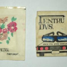 LOT 2 produse comuniste : Servetel parfumat impregnat cu apa de colonie + Hartie pt sters ochelari PECO; comunist, vintage, parfum vechi romanesc - Parfum femeie, Apa de parfum, 10 ml