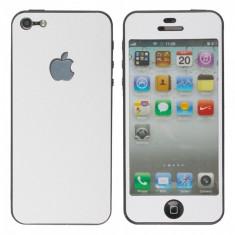 Folie full body fata spate Apple iPhone 5 5S White - Folie de protectie