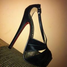 Sandale Vintis Black, NOI ! Nr 36 - Sandale dama Benvenuti, Culoare: Negru, Negru