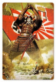 Poster din otel  Propaganda Nazista WW II - SAMURAI AXIS POWER