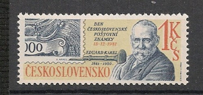 Cehoslovacia.1981 Ziua marcii postale  SC.846 foto