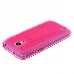Husa silicon roz samsung galaxy s4 mini i9190 + folie protectie ecran + expediere gratuita - Husa Telefon