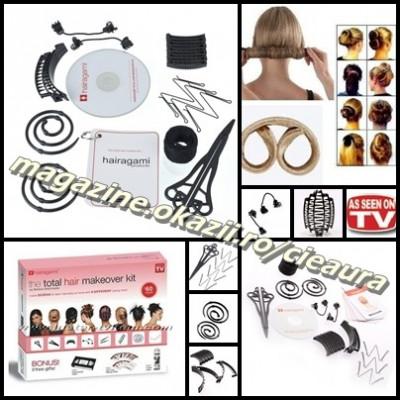 SET PROFESIONAL TOTAL HAIR MAKEOVER HAIRAGAMI 12 PIESE CD COAFURI COC PERFECT foto