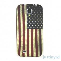 Husa silicon steag America  samsung galaxy s4 mini i9190 + folie ecran
